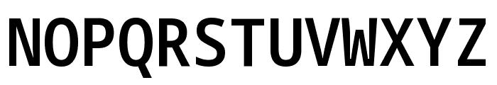 Noto Sans Mono SemiCondensed SemiBold Font UPPERCASE