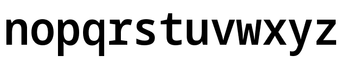 Noto Sans Mono SemiCondensed SemiBold Font LOWERCASE