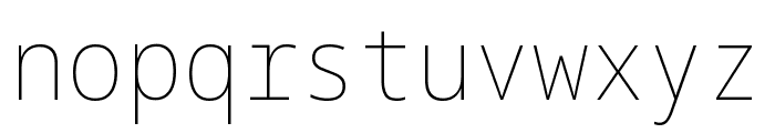 Noto Sans Mono SemiCondensed Thin Font LOWERCASE