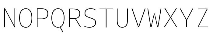 Noto Sans Mono Thin Font UPPERCASE