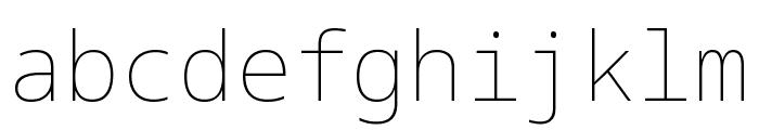 Noto Sans Mono Thin Font LOWERCASE