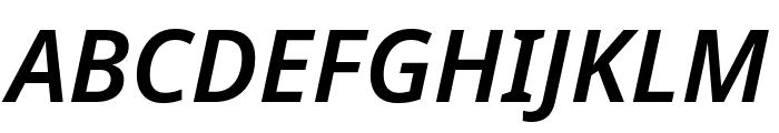 Noto Sans SemiBold Italic Font UPPERCASE