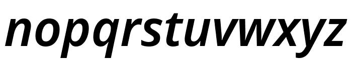 Noto Sans SemiBold Italic Font LOWERCASE