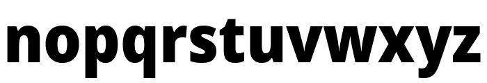 Noto Sans SemiCondensed Black Font LOWERCASE
