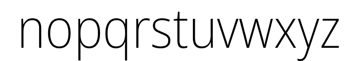 Noto Sans SemiCondensed ExtraLight Font LOWERCASE