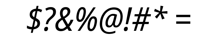 Noto Sans SemiCondensed Italic Font OTHER CHARS