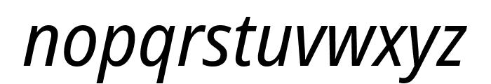 Noto Sans SemiCondensed Italic Font LOWERCASE