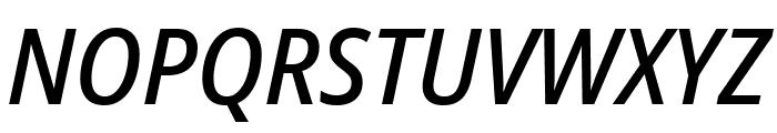 Noto Sans SemiCondensed Medium Italic Font UPPERCASE