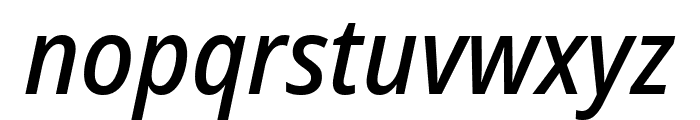 Noto Sans SemiCondensed Medium Italic Font LOWERCASE