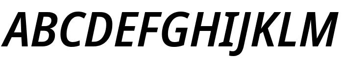 Noto Sans SemiCondensed SemiBold Italic Font UPPERCASE