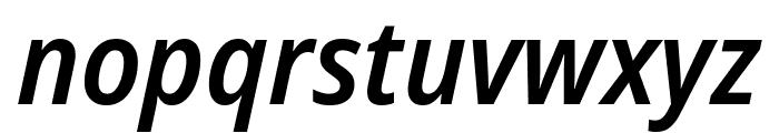 Noto Sans SemiCondensed SemiBold Italic Font LOWERCASE