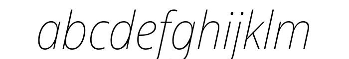 Noto Sans SemiCondensed Thin Italic Font LOWERCASE