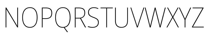 Noto Sans SemiCondensed Thin Font UPPERCASE