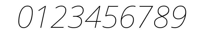 Noto Sans Thin Italic Font OTHER CHARS