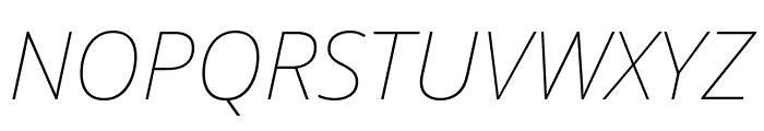 Noto Sans Thin Italic Font UPPERCASE