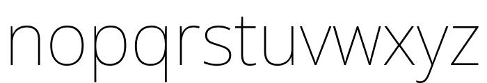 Noto Sans Thin Font LOWERCASE