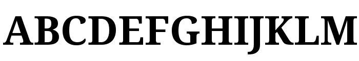 Noto Serif Bold Font UPPERCASE