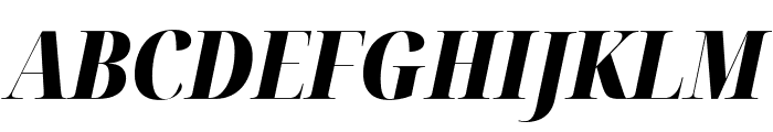 Noto Serif Display Condensed Black Italic Font UPPERCASE