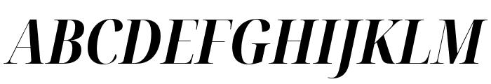 Noto Serif Display Condensed Bold Italic Font UPPERCASE