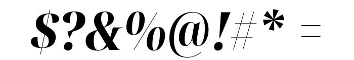 Noto Serif Display Condensed ExtraBold Italic Font OTHER CHARS