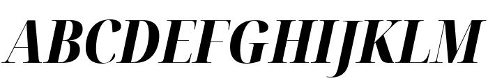 Noto Serif Display Condensed ExtraBold Italic Font UPPERCASE