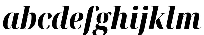 Noto Serif Display Condensed ExtraBold Italic Font LOWERCASE