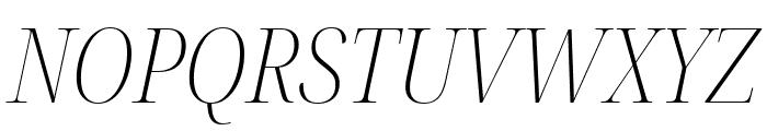 Noto Serif Display Condensed ExtraLight Italic Font UPPERCASE
