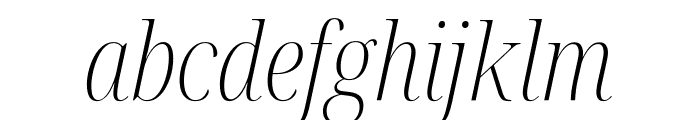 Noto Serif Display Condensed ExtraLight Italic Font LOWERCASE