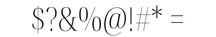 Noto Serif Display Condensed ExtraLight Font OTHER CHARS