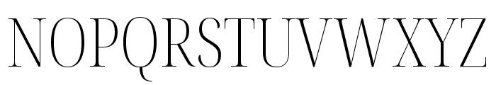 Noto Serif Display Condensed ExtraLight Font UPPERCASE