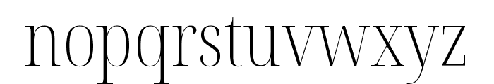 Noto Serif Display Condensed ExtraLight Font LOWERCASE