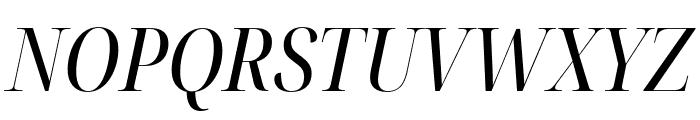 Noto Serif Display Condensed Italic Font UPPERCASE