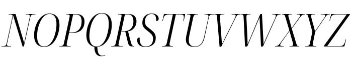 Noto Serif Display Condensed Light Italic Font UPPERCASE