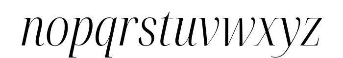 Noto Serif Display Condensed Light Italic Font LOWERCASE