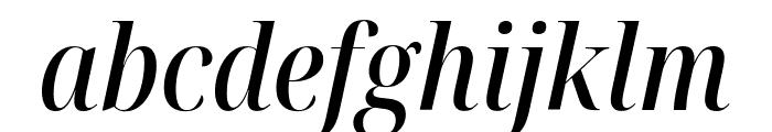 Noto Serif Display Condensed Medium Italic Font LOWERCASE