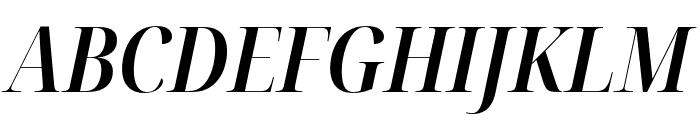 Noto Serif Display Condensed SemiBold Italic Font UPPERCASE