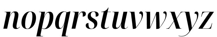 Noto Serif Display Condensed SemiBold Italic Font LOWERCASE