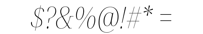Noto Serif Display Condensed Thin Italic Font OTHER CHARS