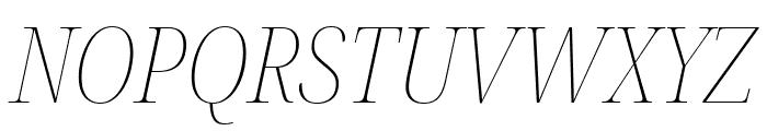Noto Serif Display Condensed Thin Italic Font UPPERCASE