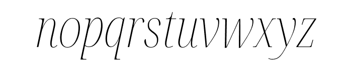 Noto Serif Display Condensed Thin Italic Font LOWERCASE