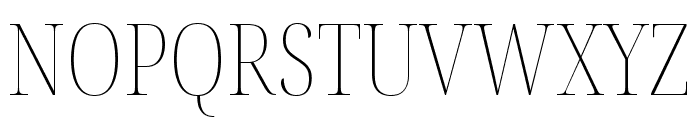 Noto Serif Display Condensed Thin Font UPPERCASE