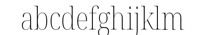 Noto Serif Display Condensed Thin Font LOWERCASE