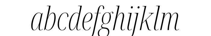 Noto Serif Display ExtraCondensed ExtraLight Italic Font LOWERCASE