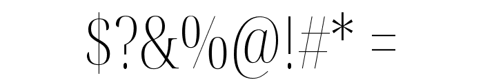 Noto Serif Display ExtraCondensed ExtraLight Font OTHER CHARS