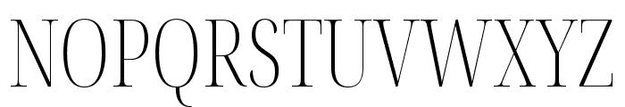 Noto Serif Display ExtraCondensed ExtraLight Font UPPERCASE