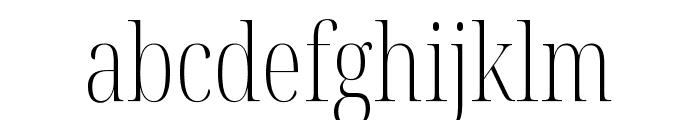 Noto Serif Display ExtraCondensed ExtraLight Font LOWERCASE