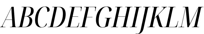 Noto Serif Display ExtraCondensed Italic Font UPPERCASE
