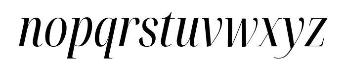 Noto Serif Display ExtraCondensed Italic Font LOWERCASE