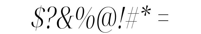 Noto Serif Display ExtraCondensed Light Italic Font OTHER CHARS