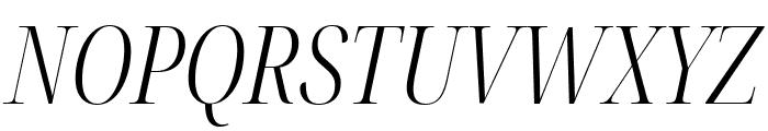 Noto Serif Display ExtraCondensed Light Italic Font UPPERCASE